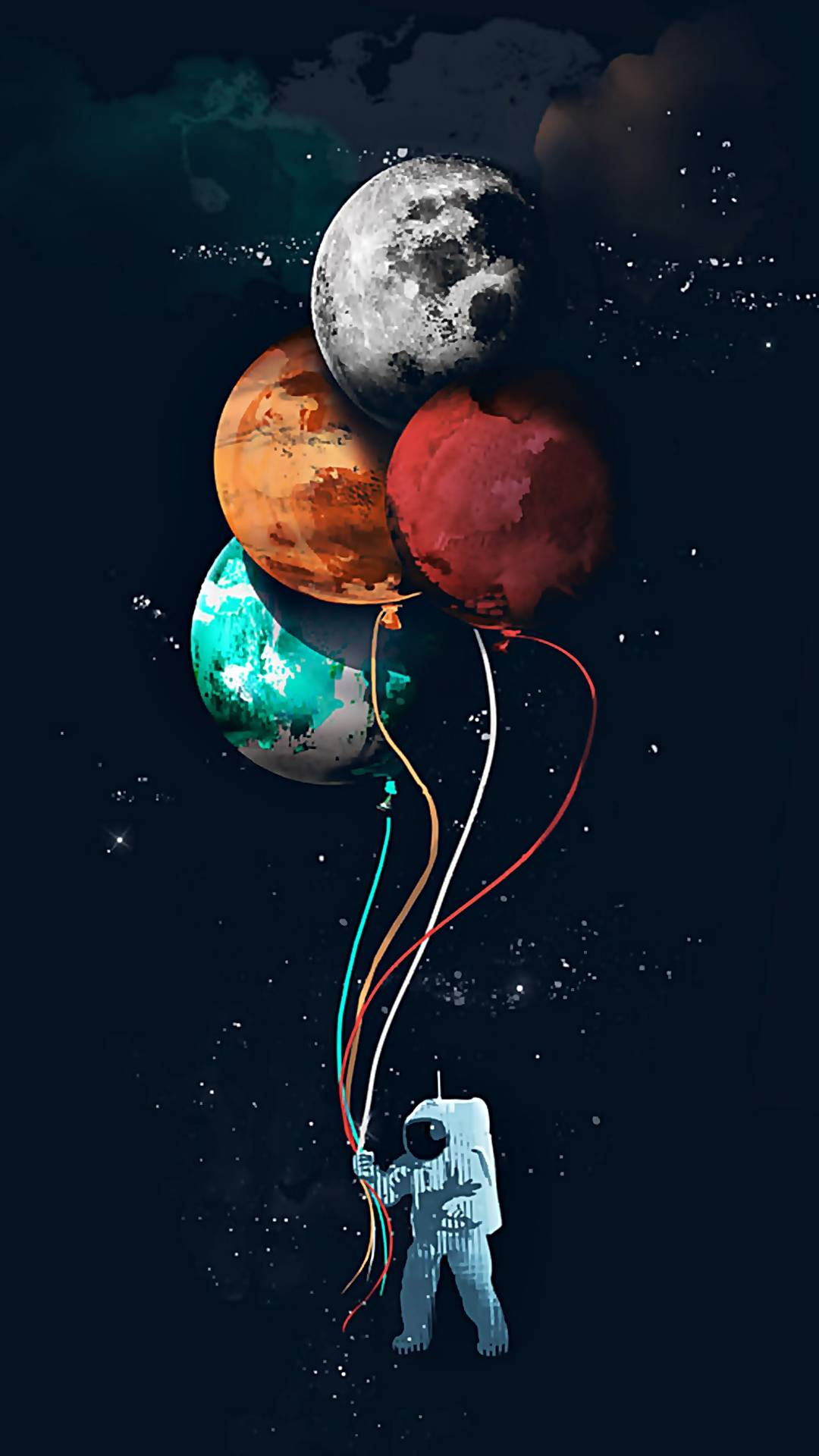 Planet Balloons iPhone Wallpaper
