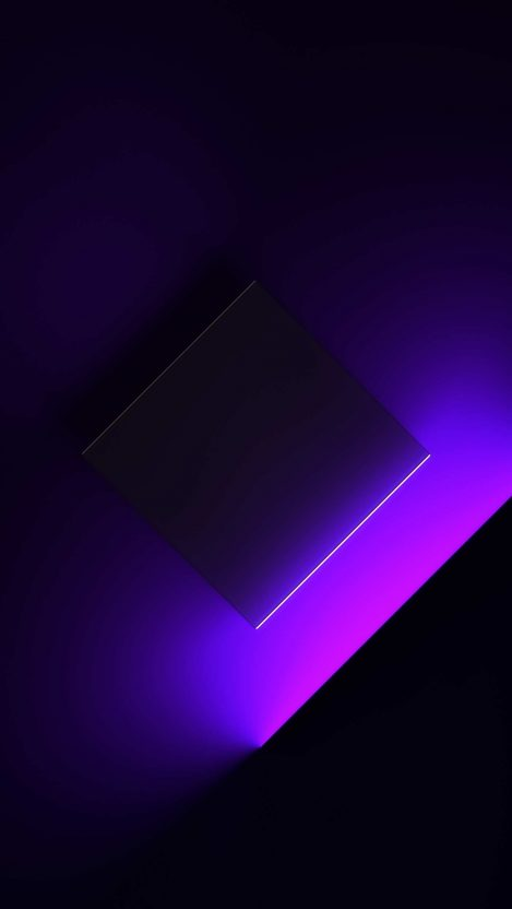 Purple Cube Lights iPhone Wallpaper