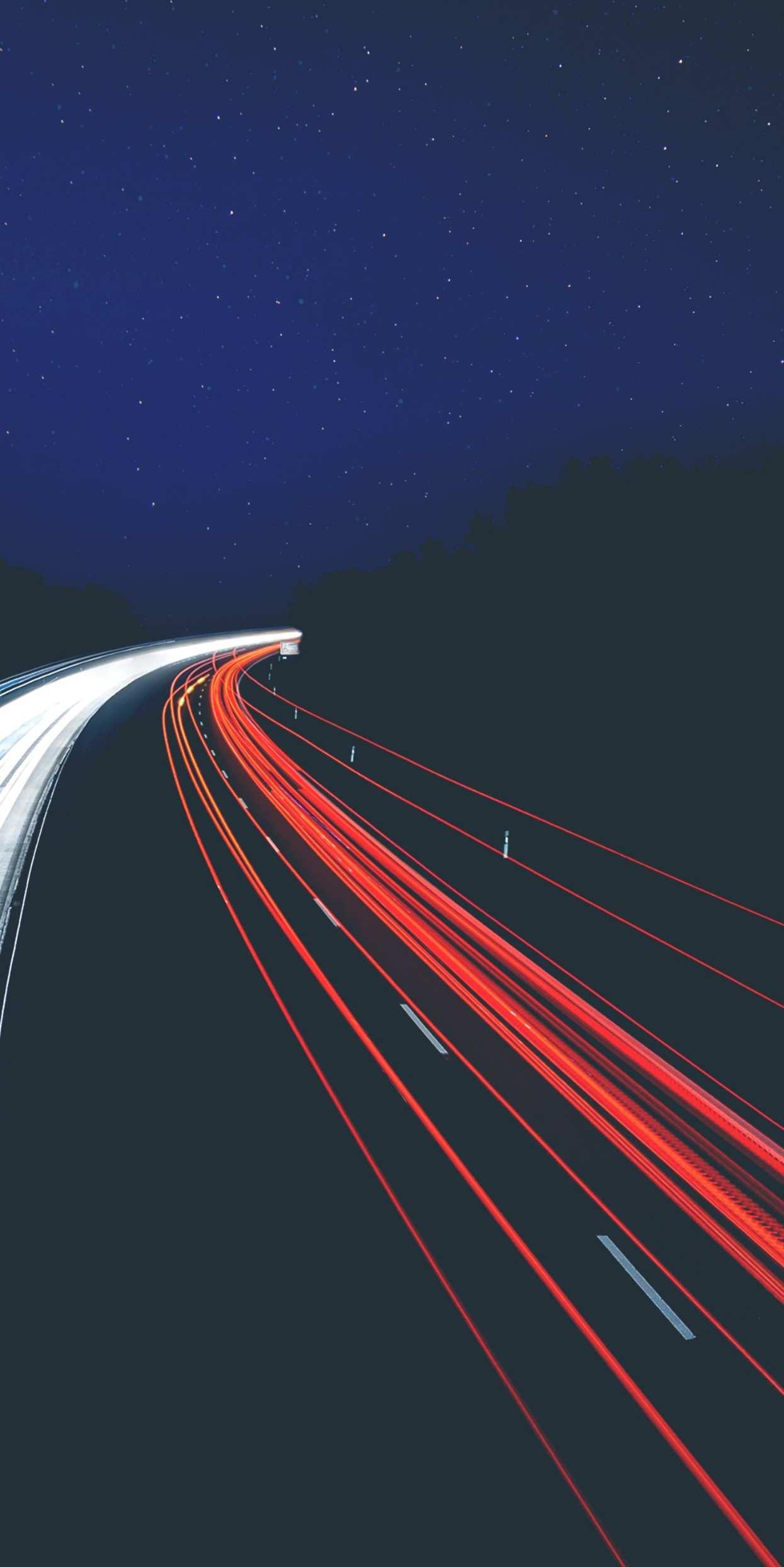 Road Night iPhone Wallpaper