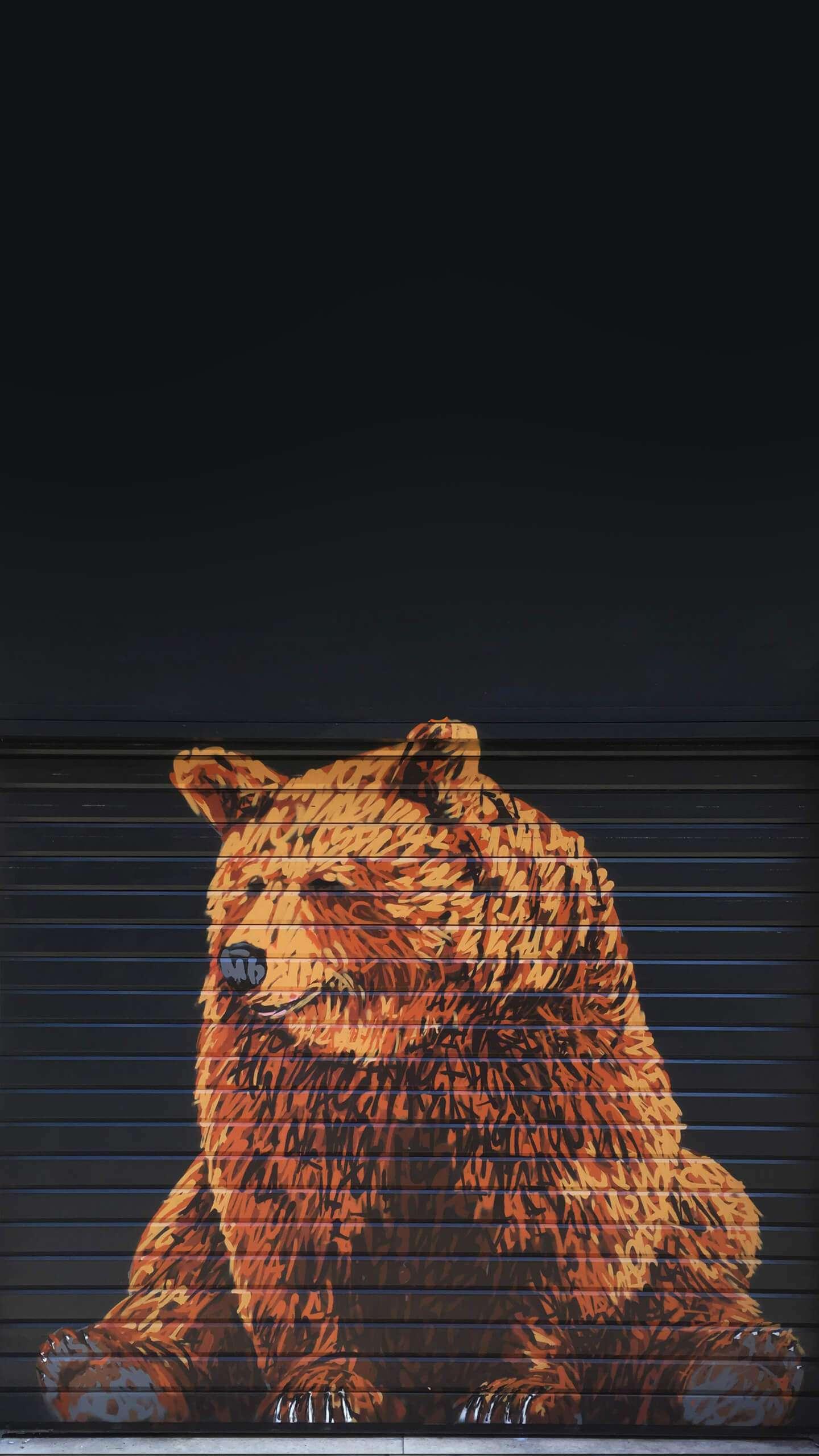 Sad Bear iPhone Wallpaper