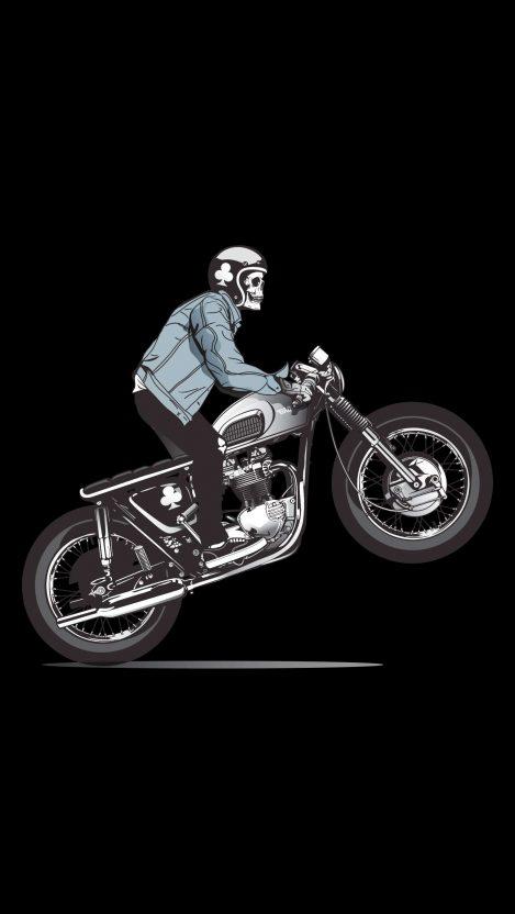 Skull Rider iPhone Wallpaper