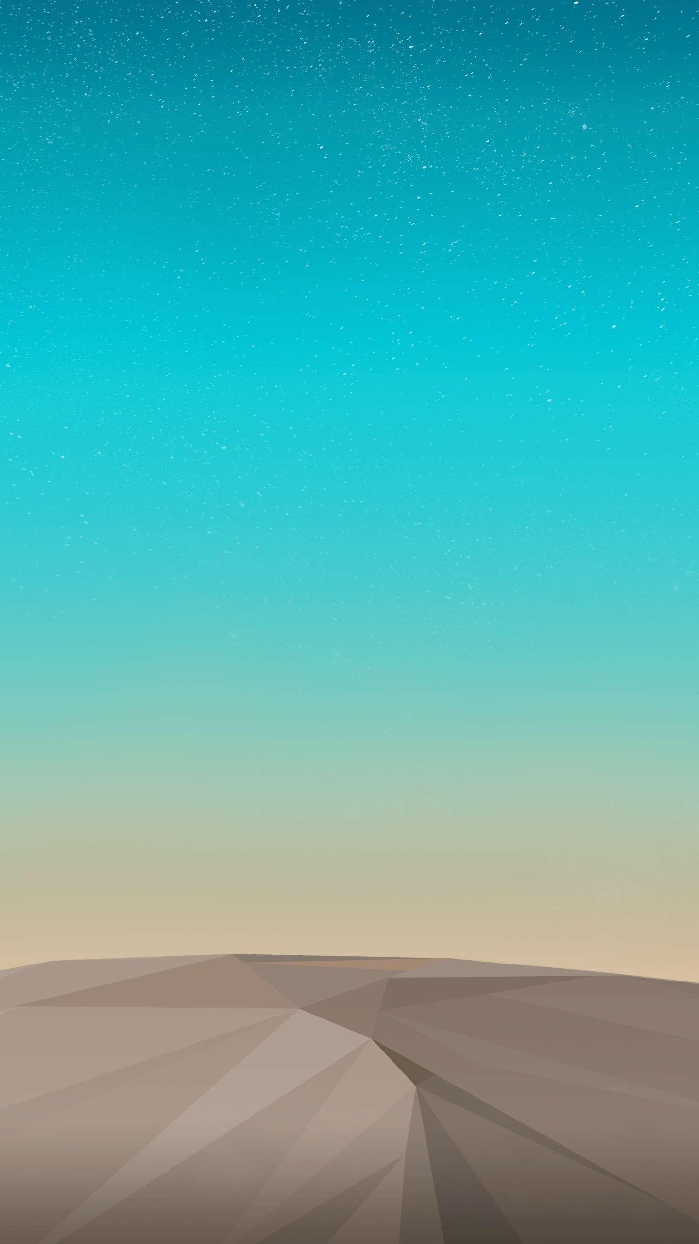 Sky Stars and Desert iPhone Wallpaper
