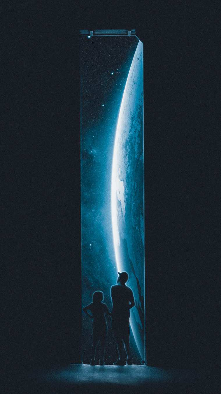 Space Travel iPhone Wallpaper