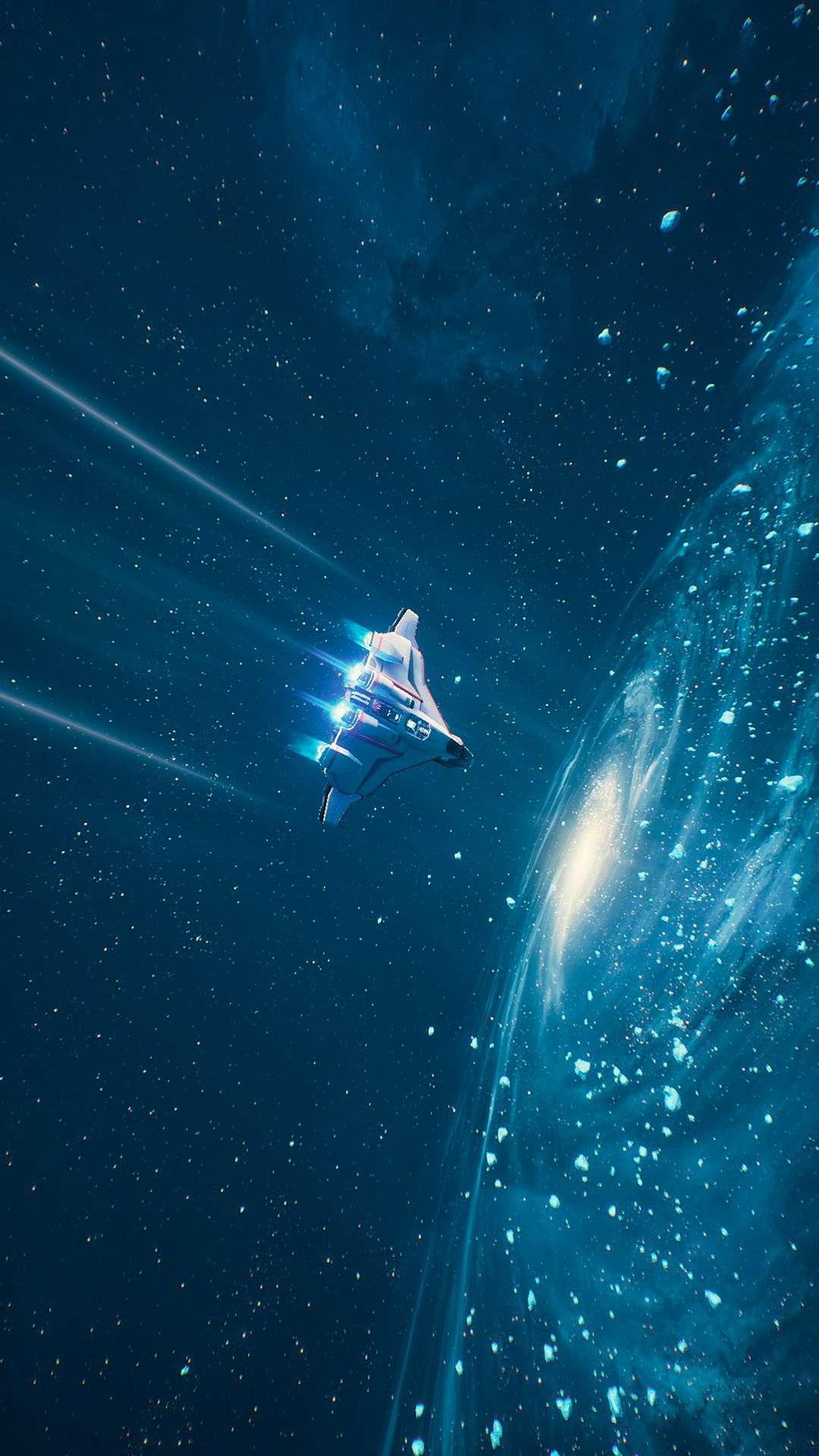 SpaceShip Interstellar Space iPhone Wallpaper