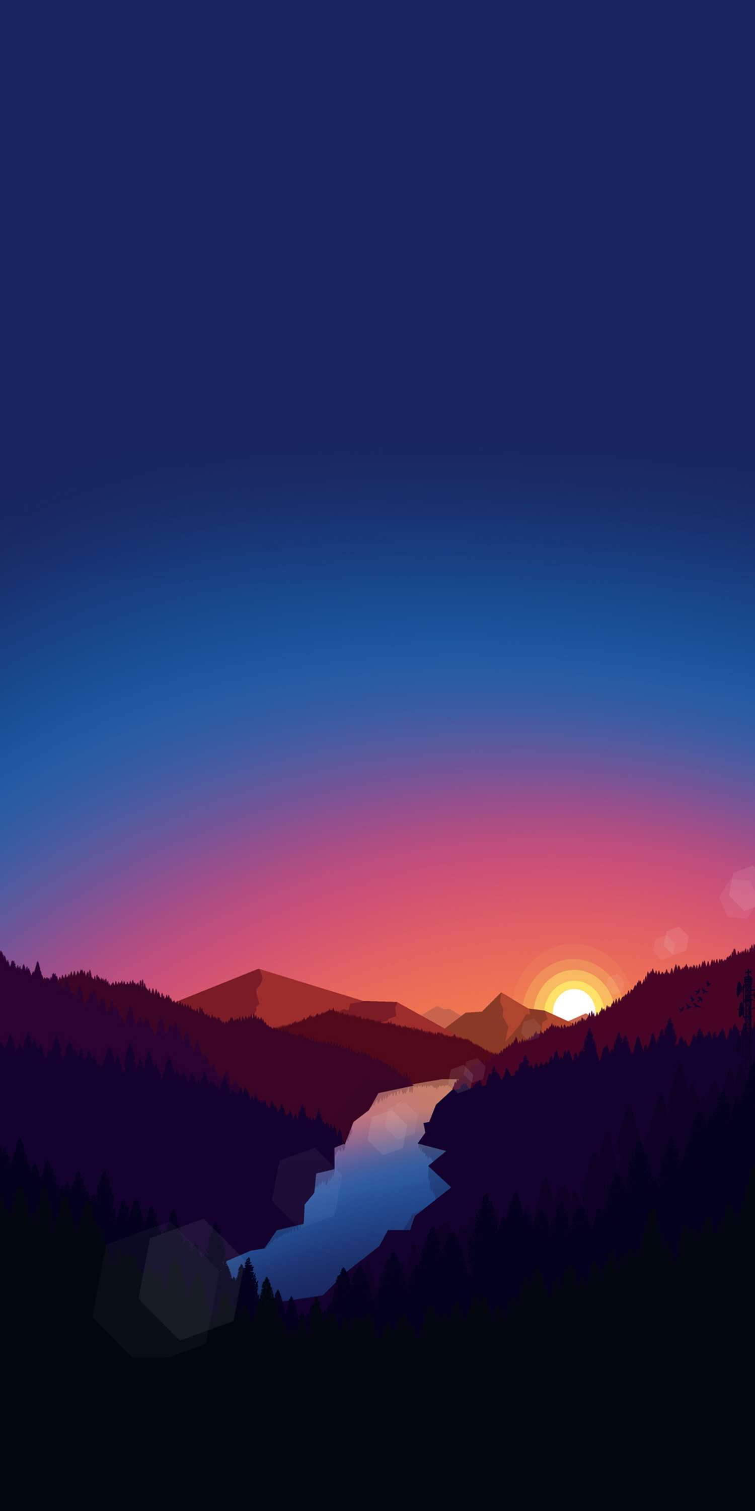 Sunrise View Minimal Nature iPhone Wallpaper