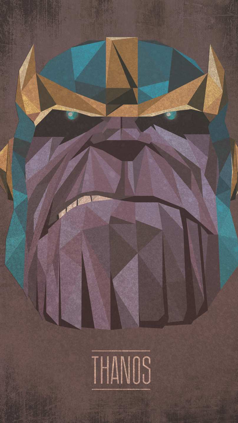 Thanos Low Poly iPhone Wallpaper