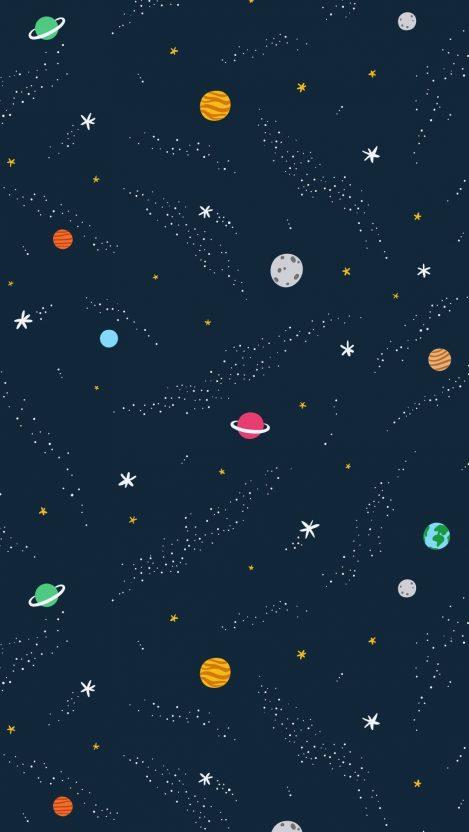 Universe Art Minimal iPhone Wallpaper