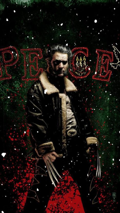 Wolverine Christmas iPhone Wallpaper