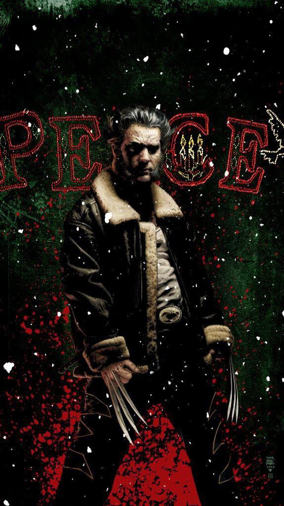 Wolverine Christmas iPhone Wallpaper
