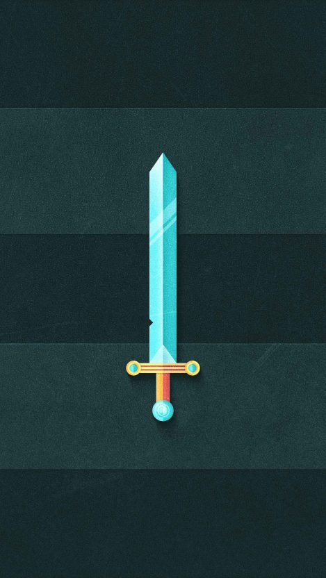 Almighty Sword iPhone Wallpaper