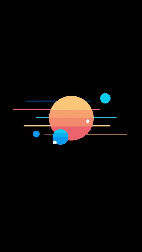 Amoled Planets Sun iPhone Wallpaper