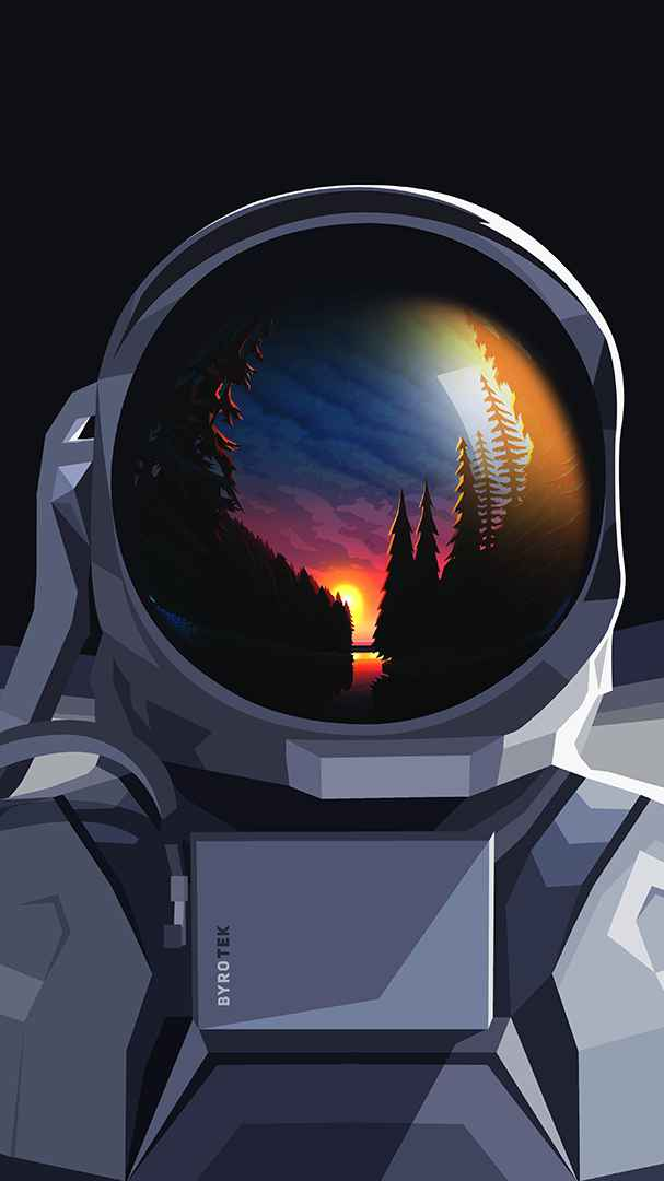 Astronaut Forest iPhone Wallpaper