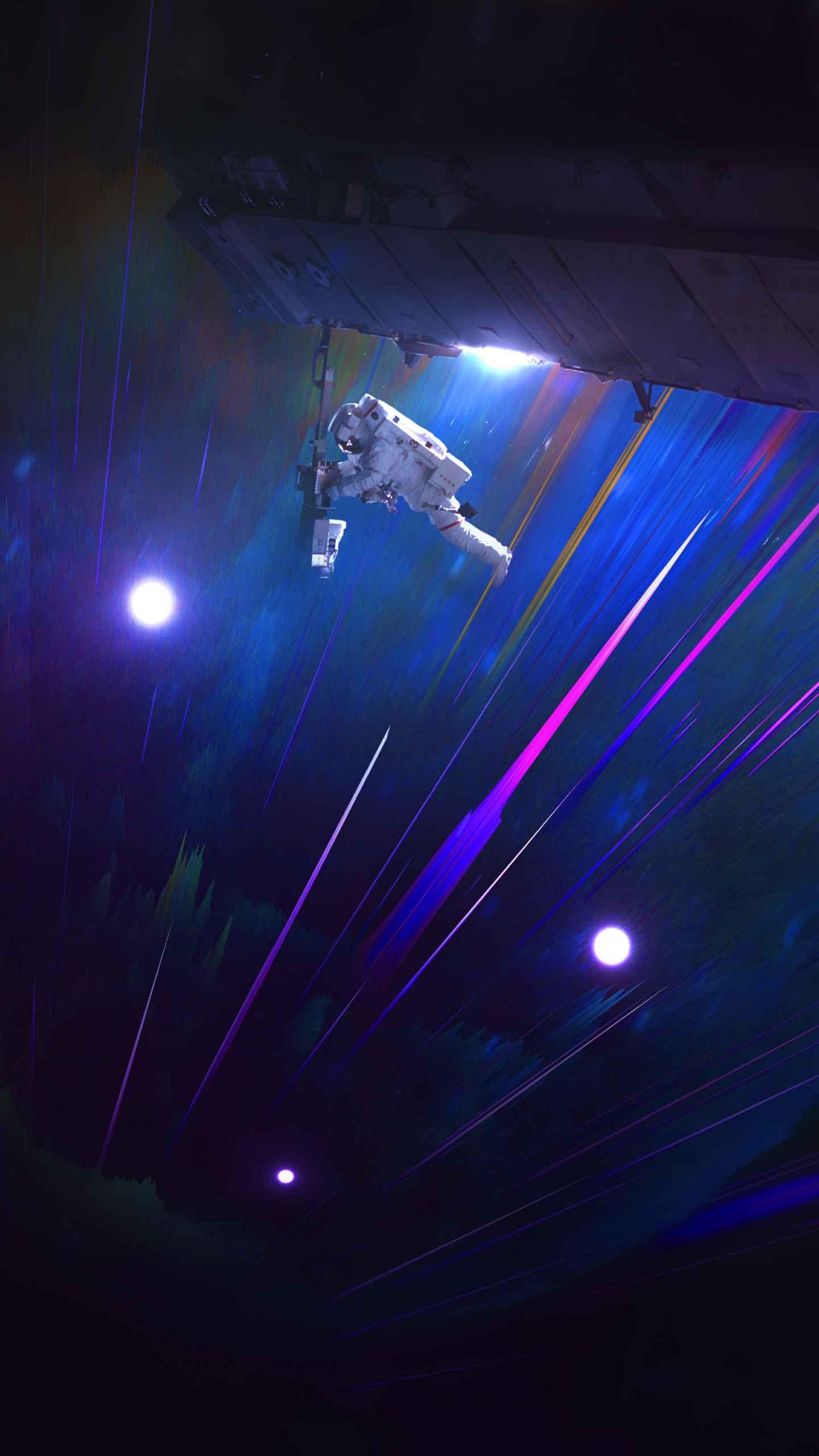Astronaut Space Explorer iPhone Wallpaper