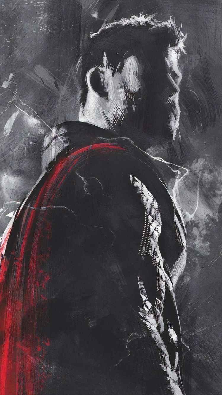 Avengers Endgame Thor Art iPhone Wallpaper