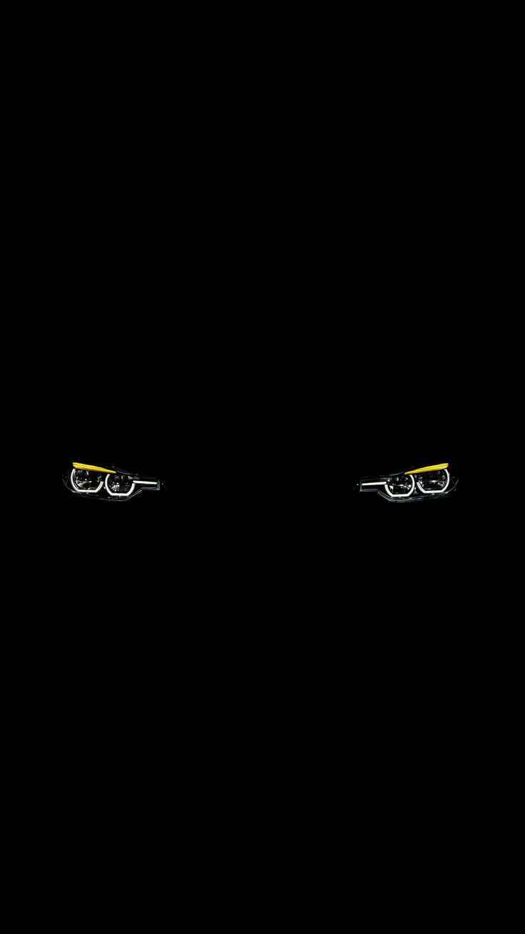 BMW Dark Lights iPhone Wallpaper