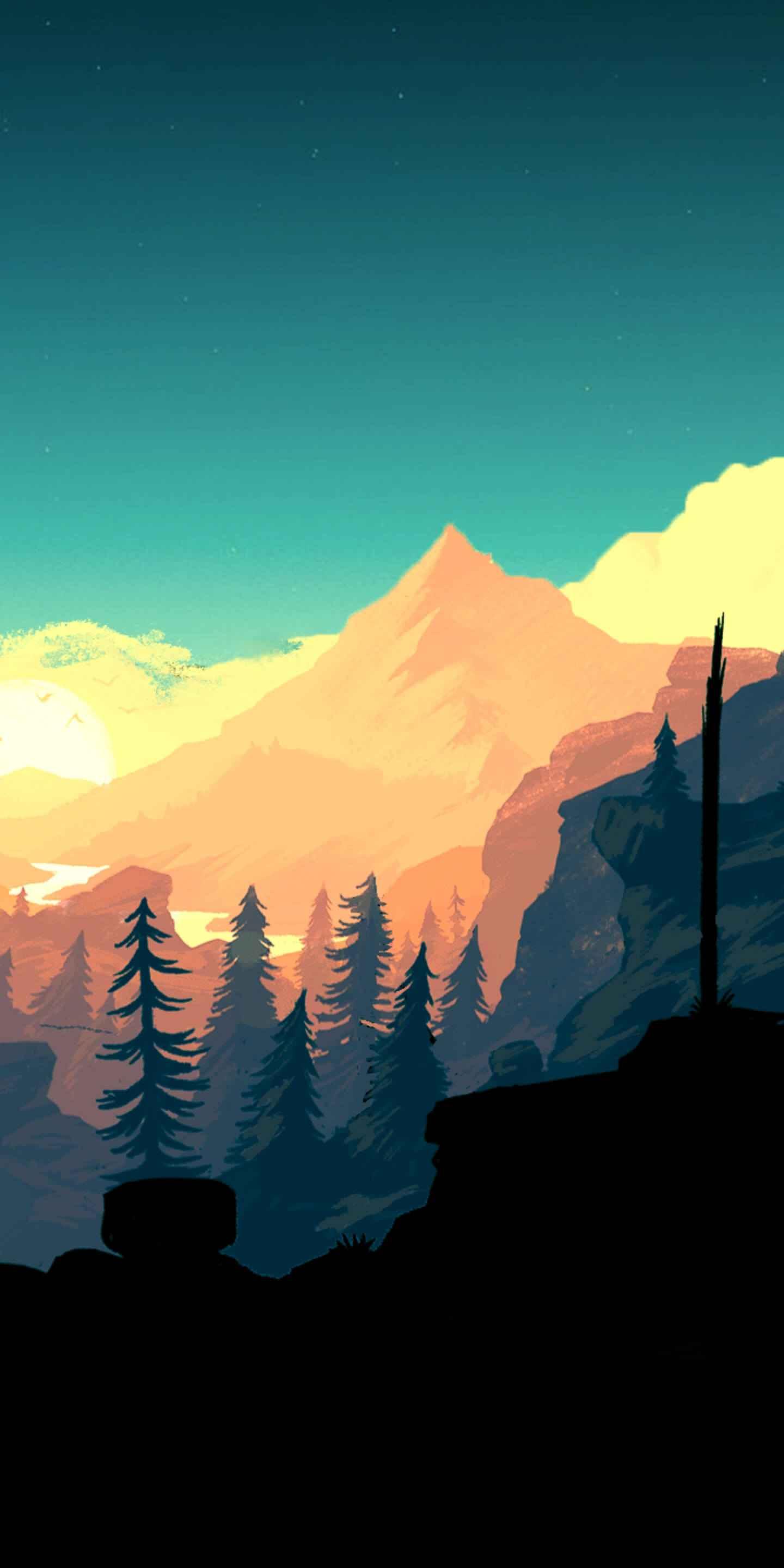 Beauty Mountain iPhone Wallpaper