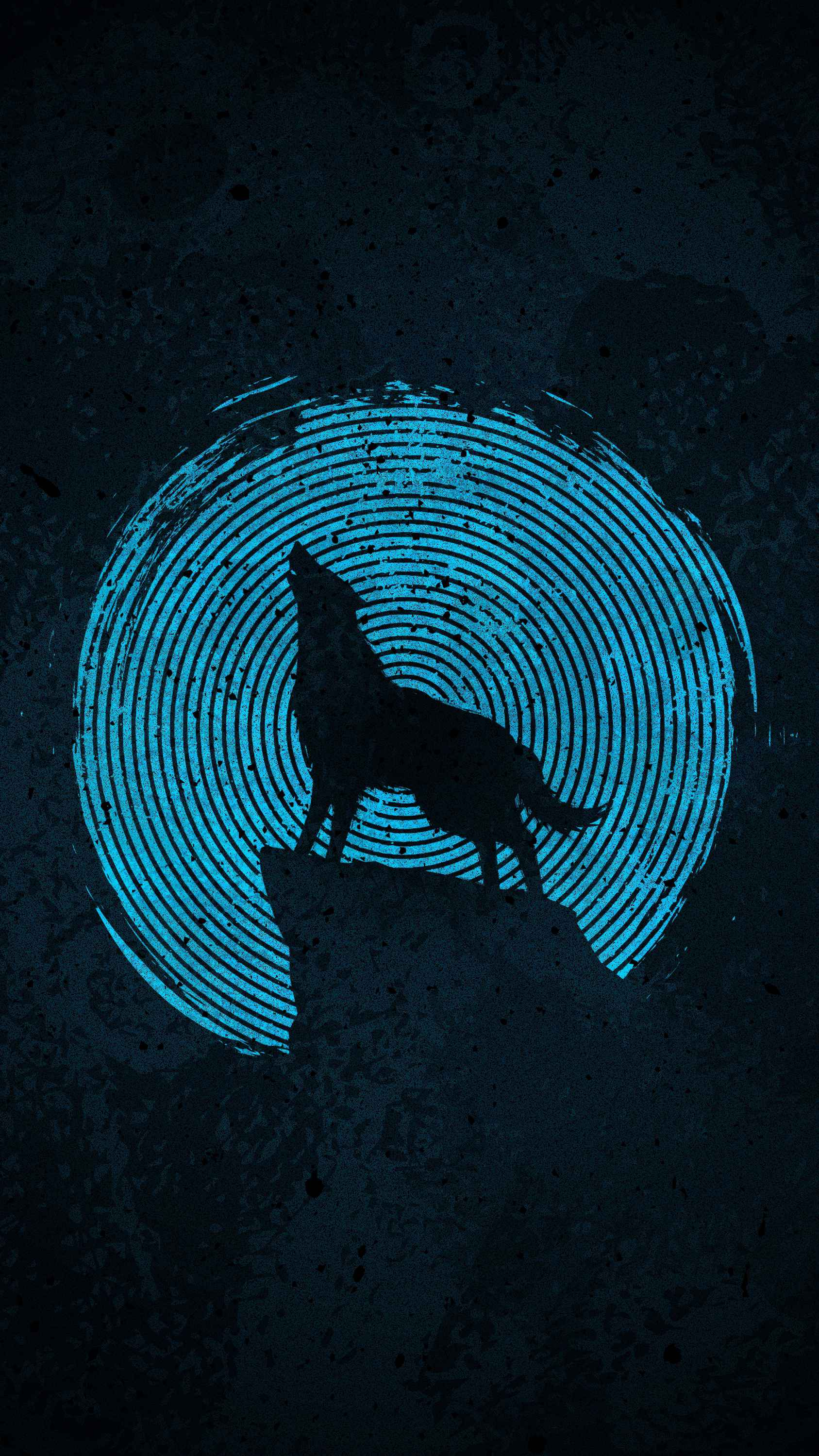 Blue Moon Wolf iPhone Wallpaper
