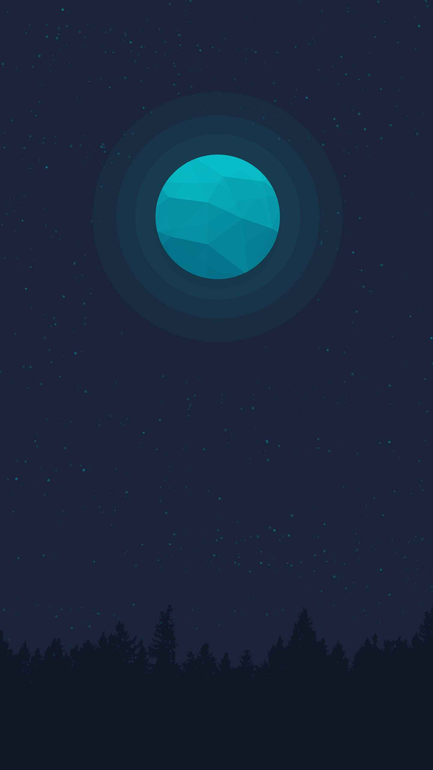 Blue Moon iPhone Wallpaper