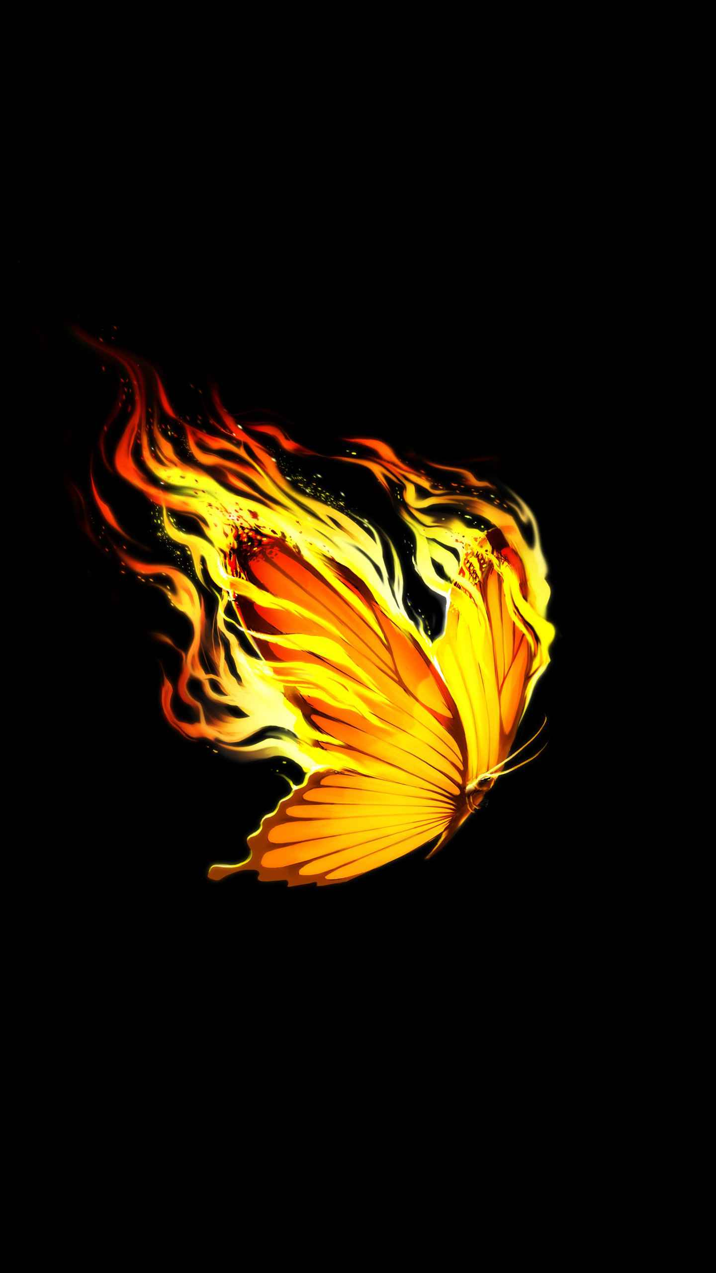 Burning Butterfly iPhone Wallpaper