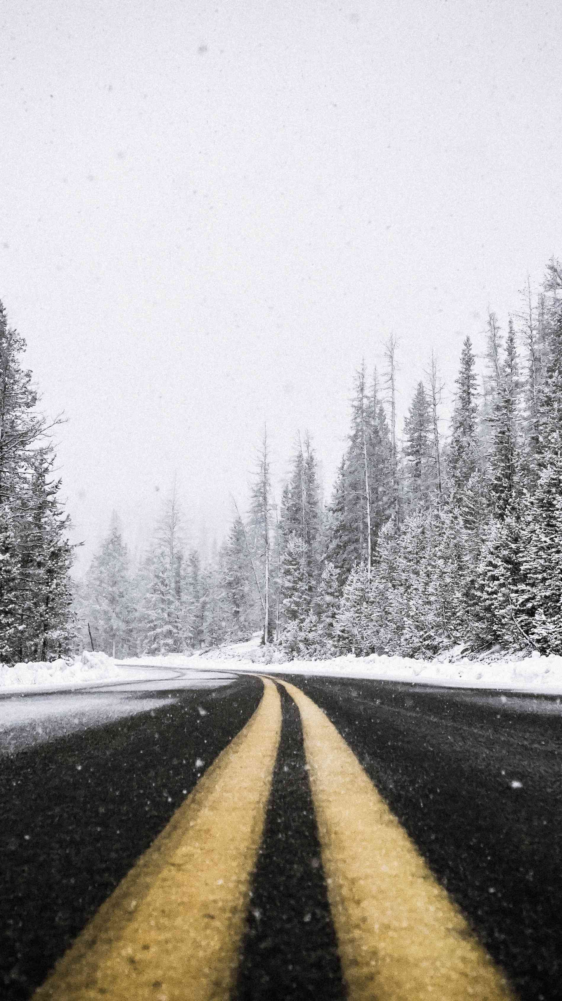 Cold Road iPhone Wallpaper