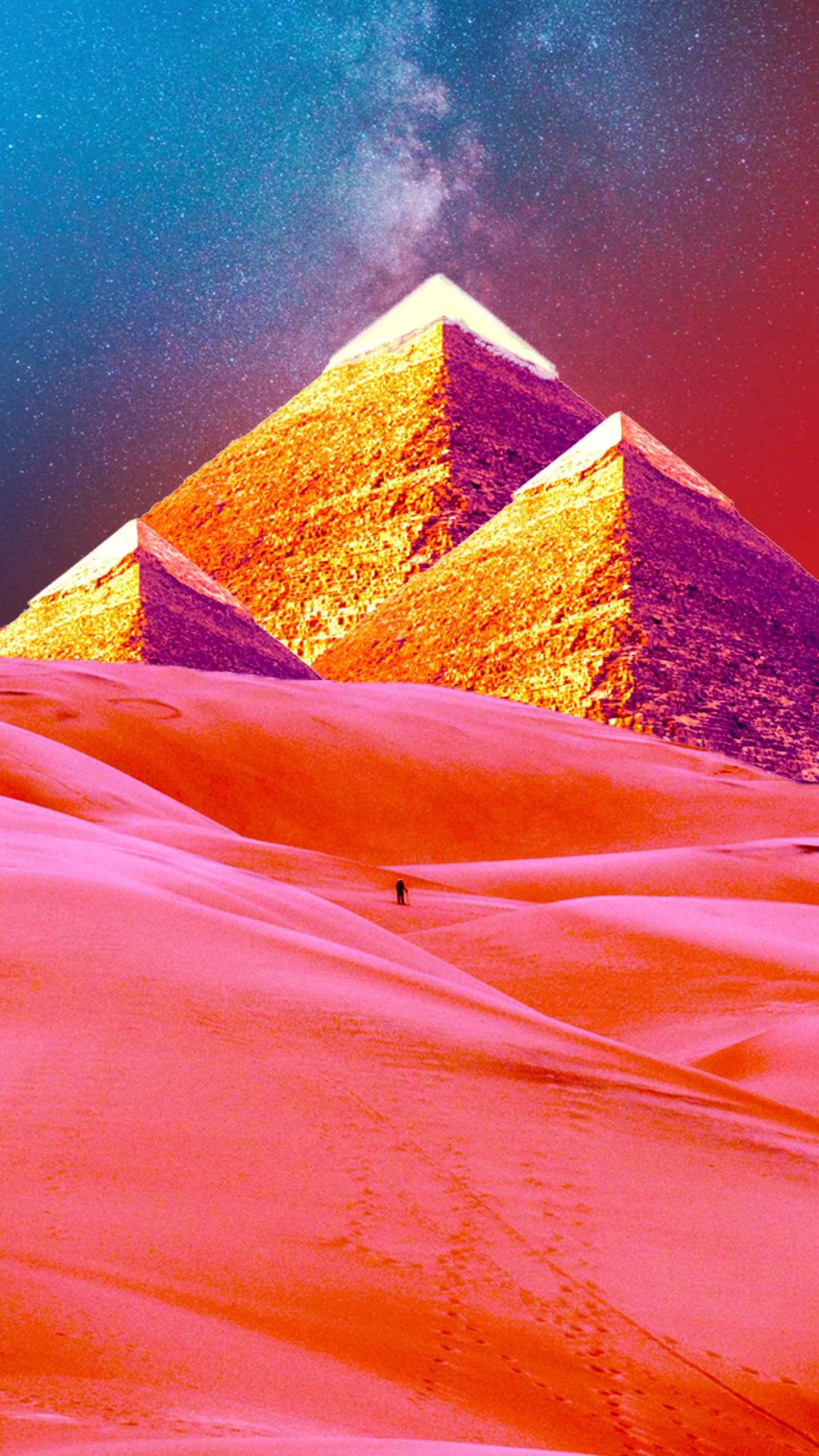 Colorful Desert iPhone Wallpaper
