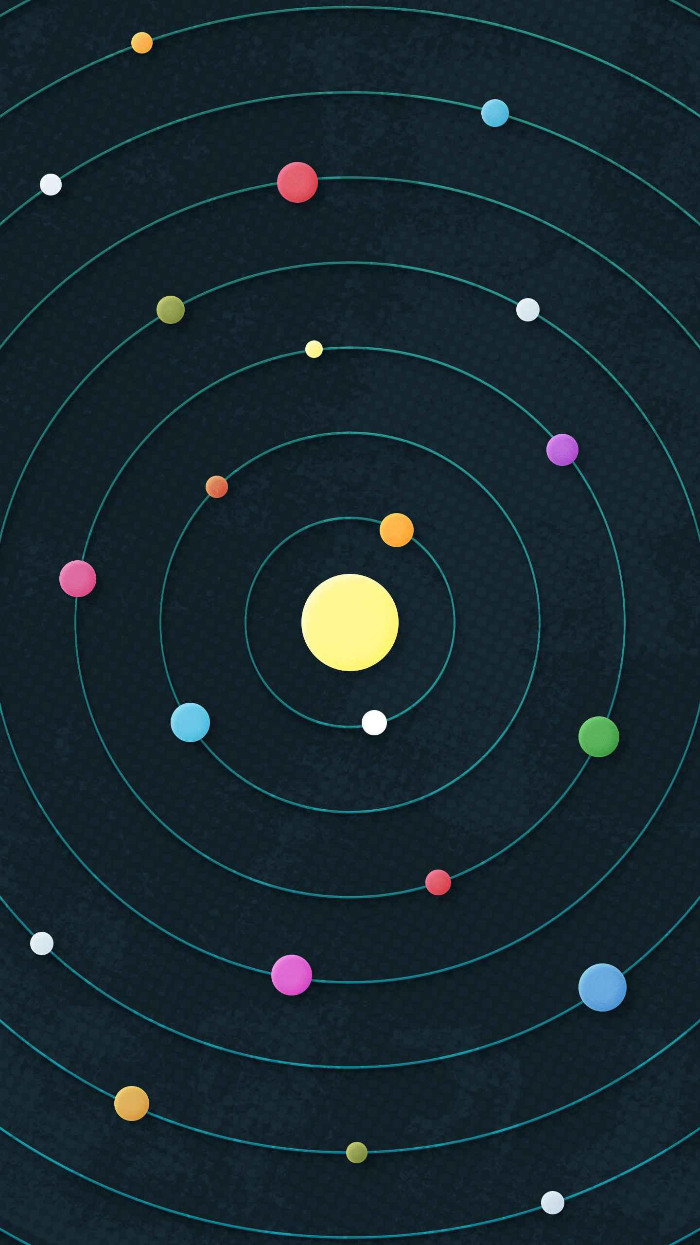 Cosmic Orbit iPhone Wallpaper