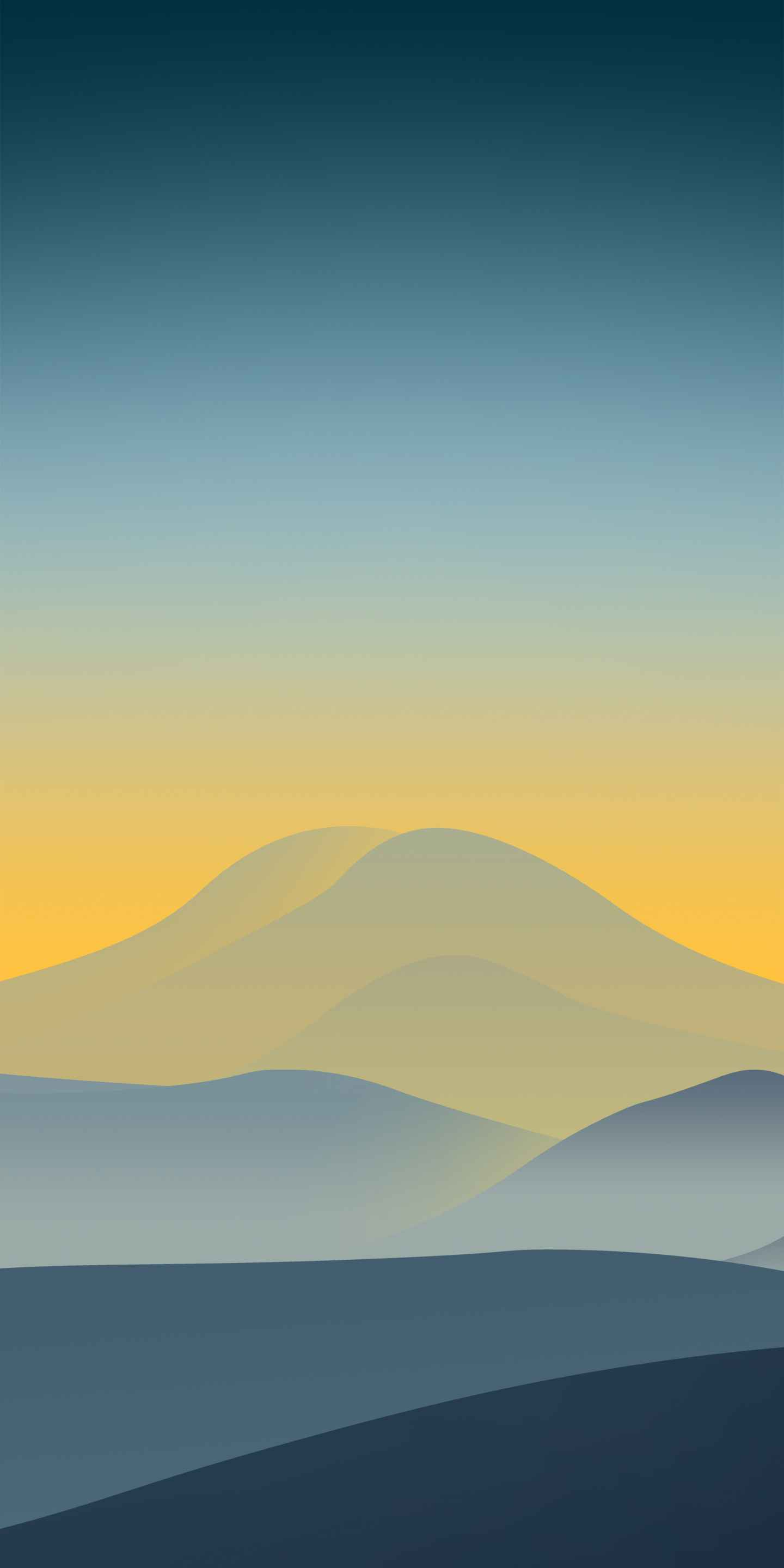 Desert Mountain Minimal iPhone Wallpaper