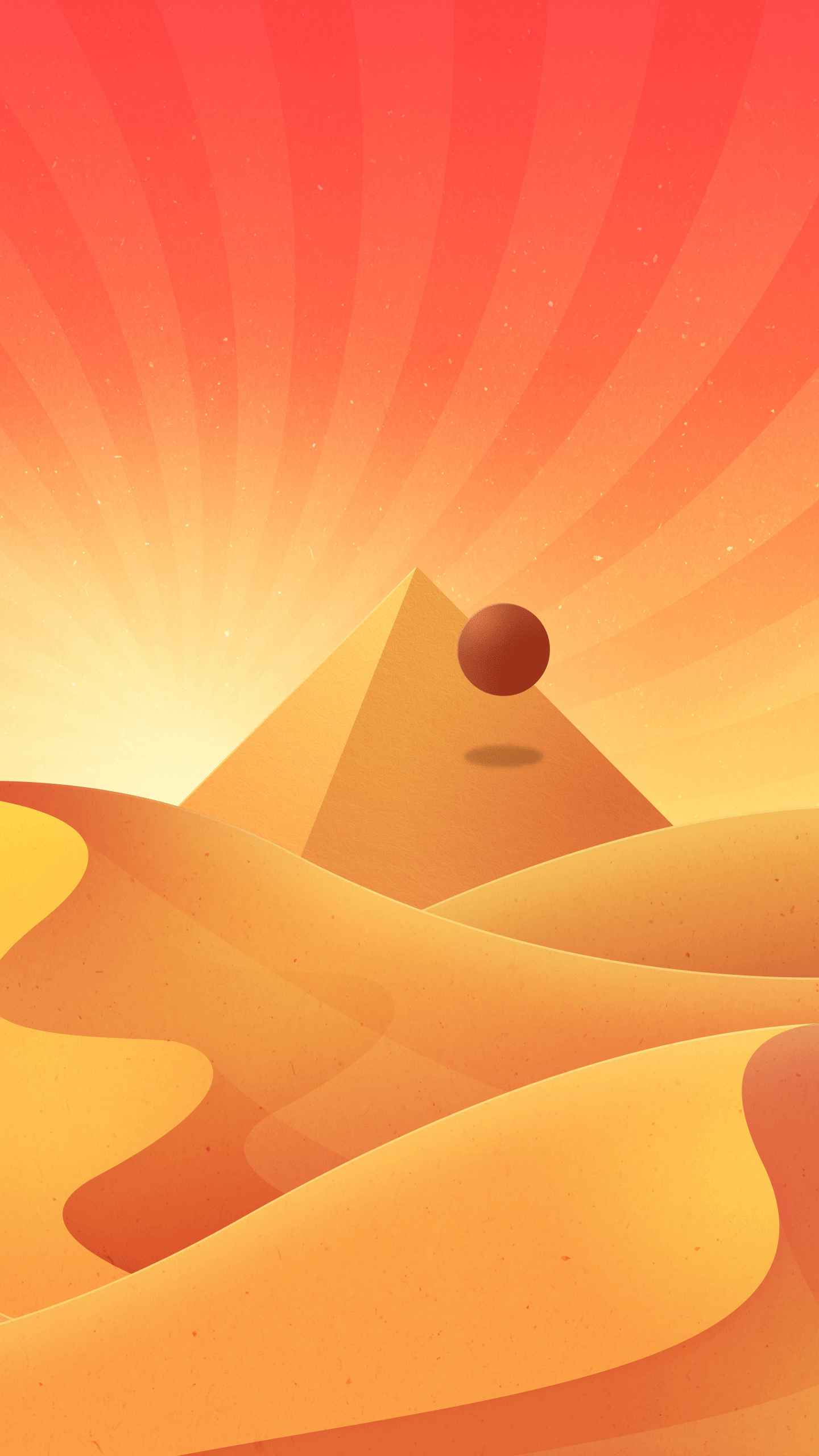 Desert Pyramid iPhone Wallpaper