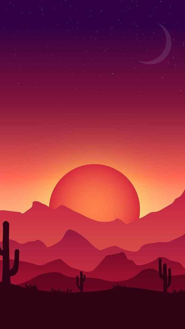 Desert Sunset iPhone Wallpaper