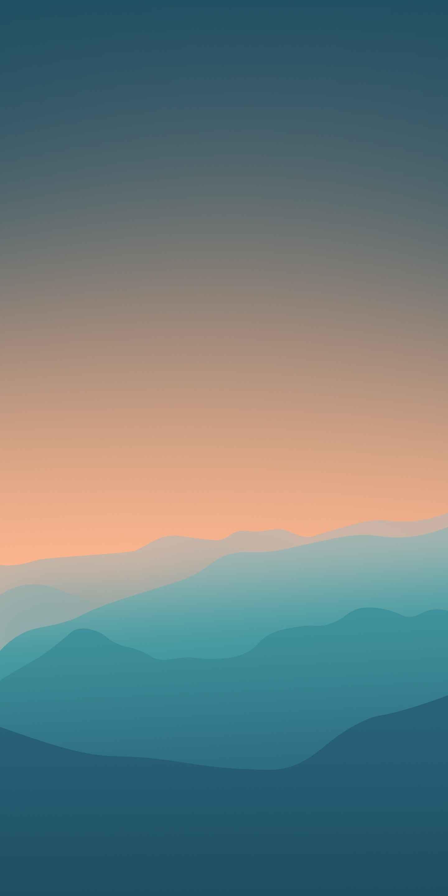 Evening Horizon Minimal iPhone Wallpaper