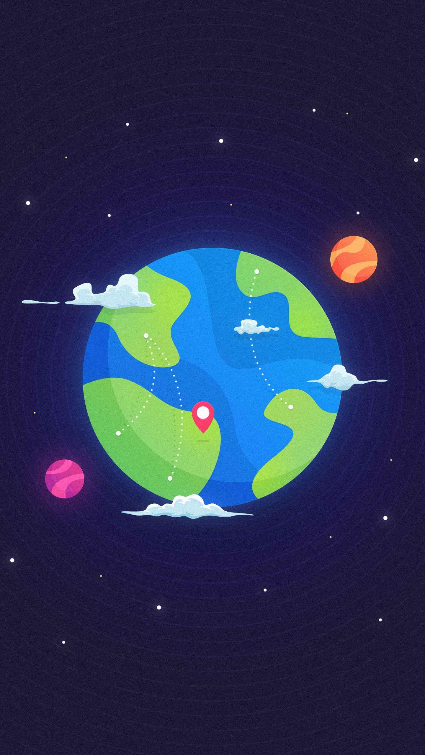 GPS Earth iPhone Wallpaper