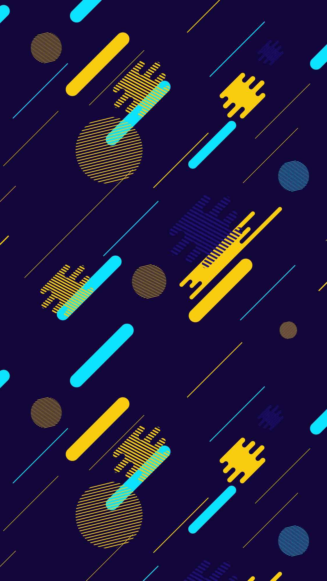 Geometrical Configuration iPhone Wallpaper