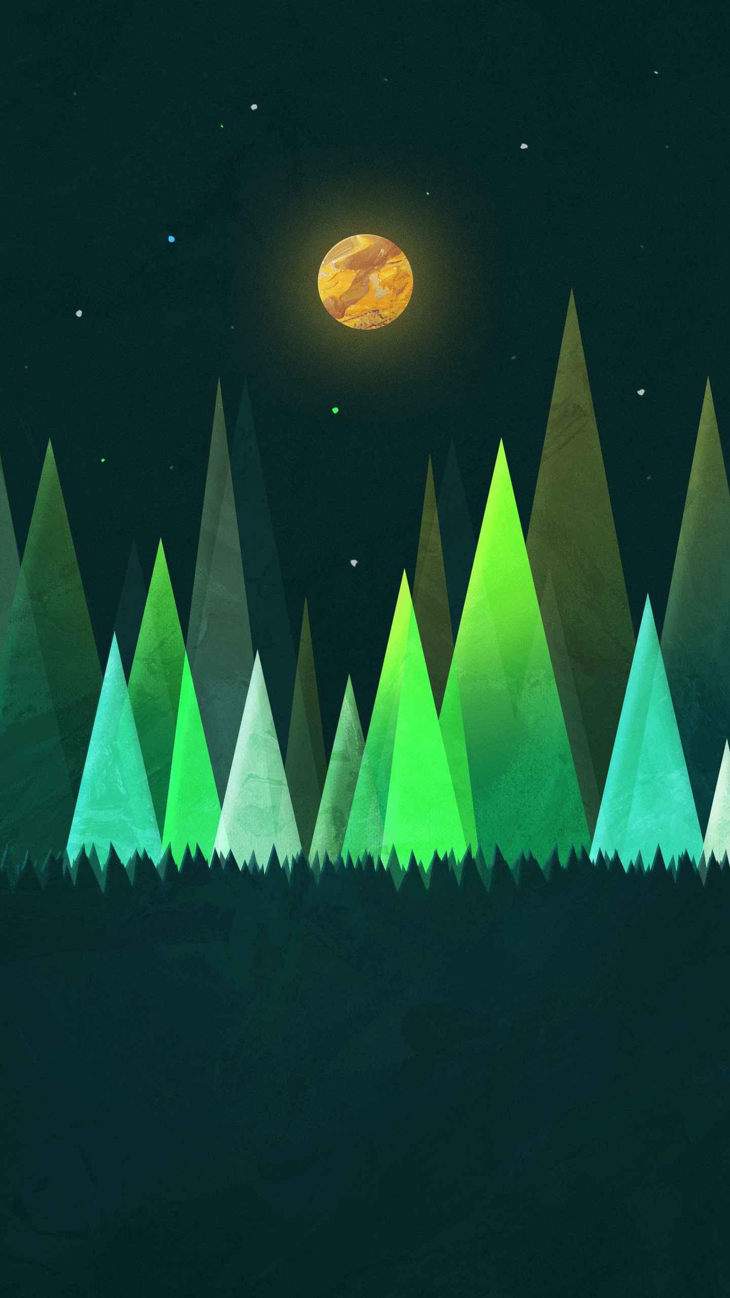 Glow Grove iPhone Wallpaper