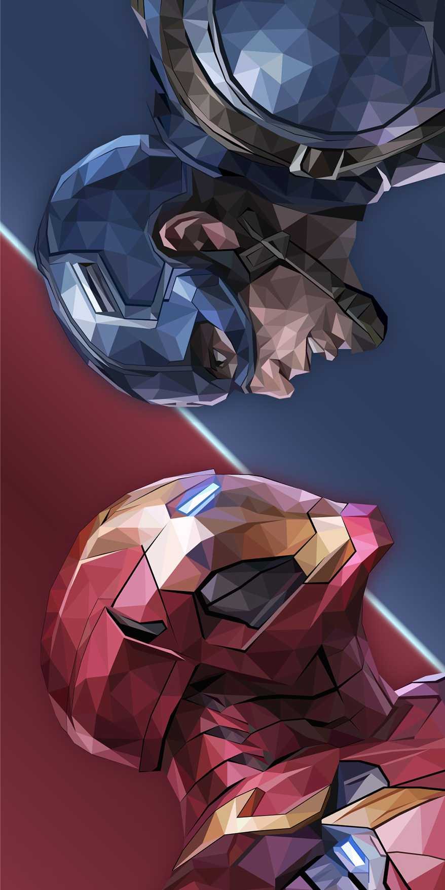 Iron Man vs Cap iPhone Wallpaper