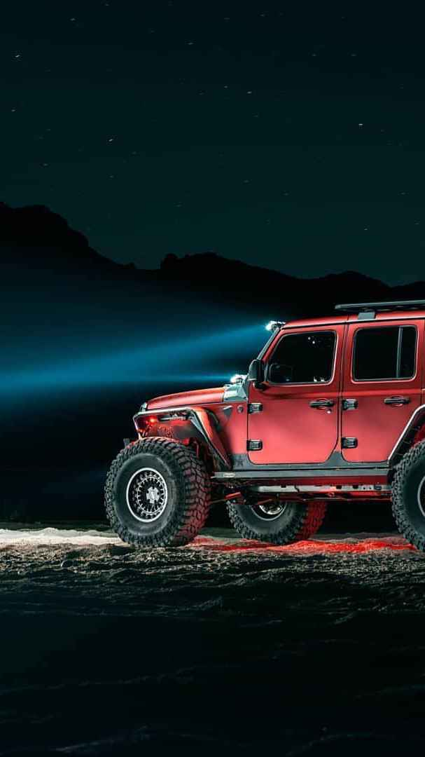 Jeep Night Offroad iPhone Wallpaper