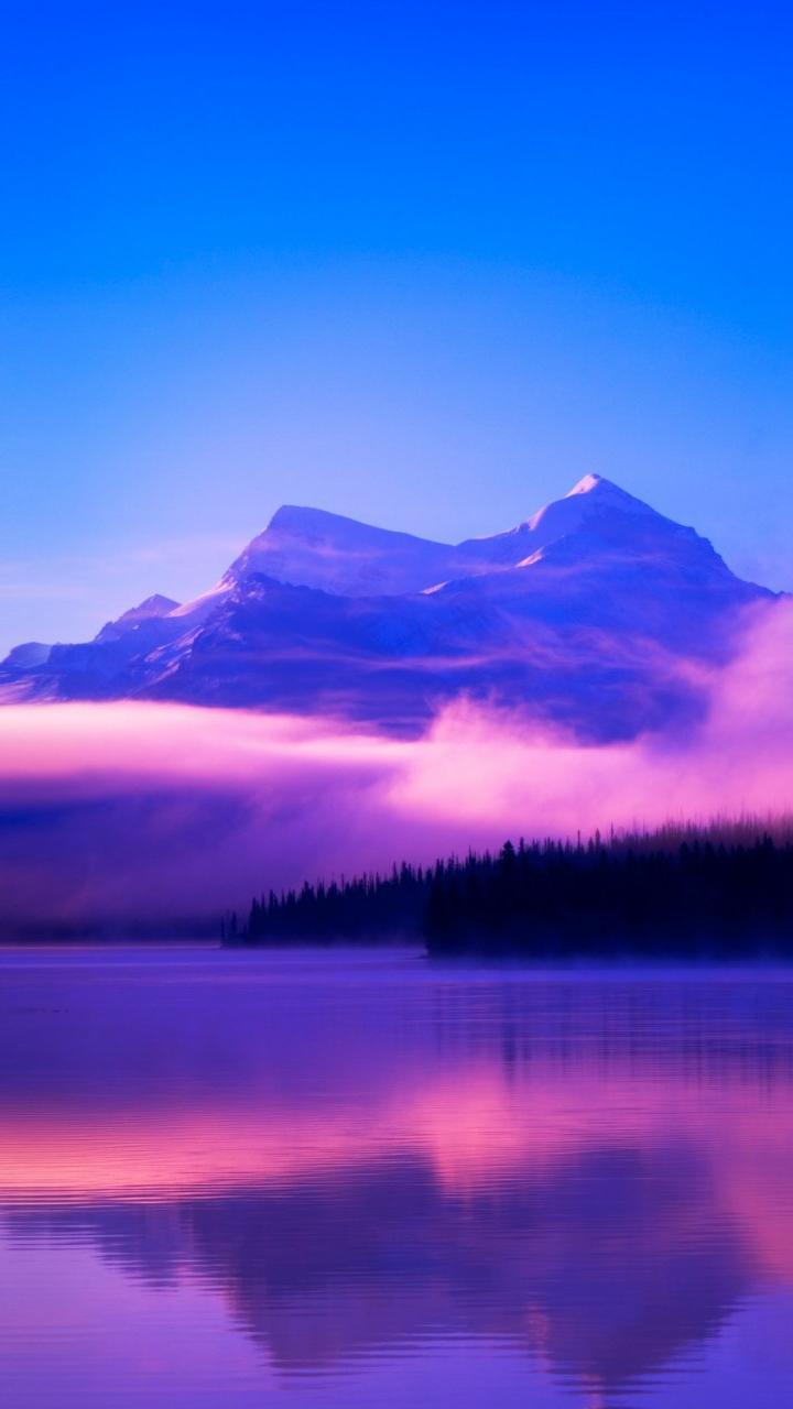 Lake Beautiful Nature Winter Canada iPhone Wallpaper