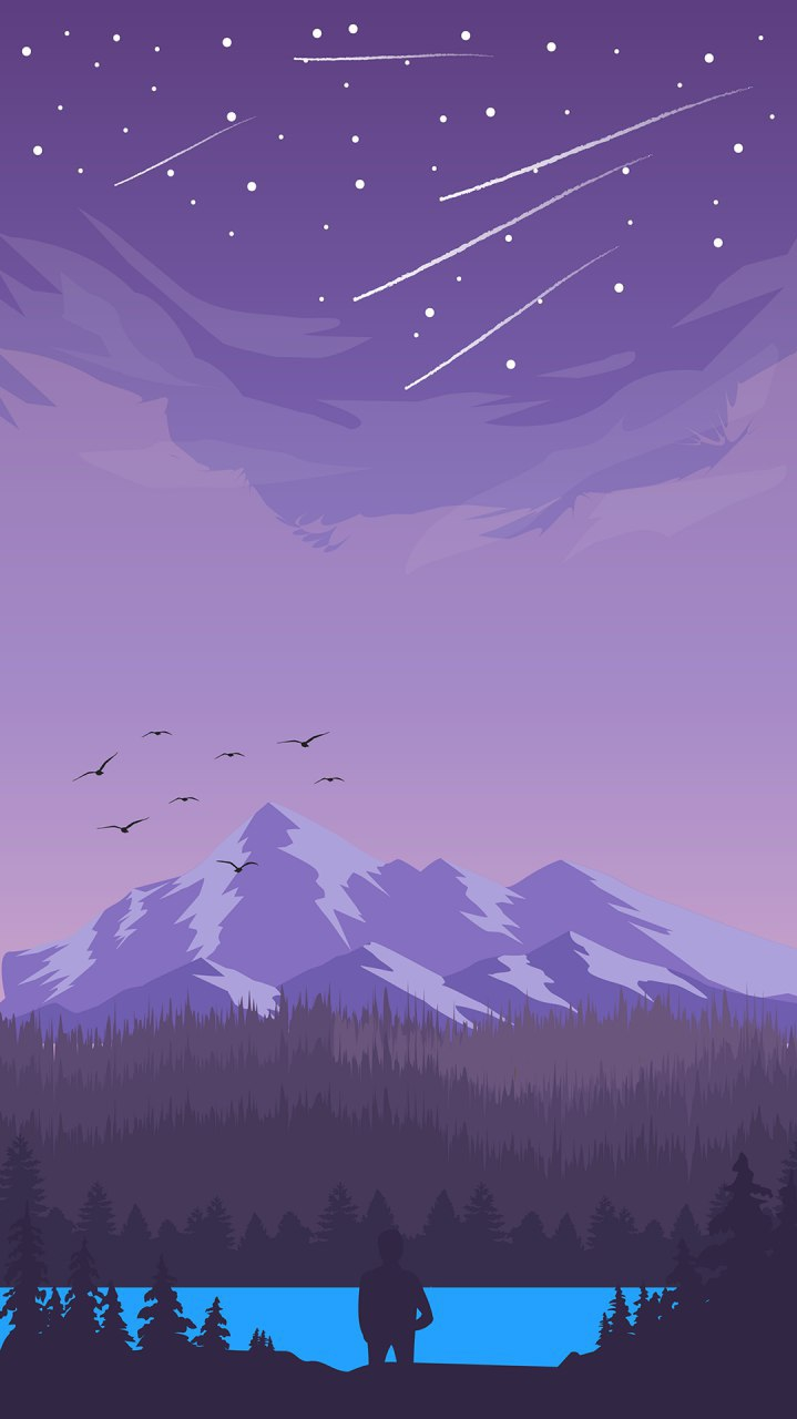Lake Superior Art iPhone Wallpaper
