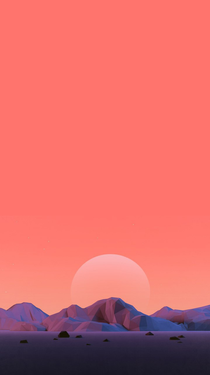 Low Poly Art Sunrise iPhone Wallpaper