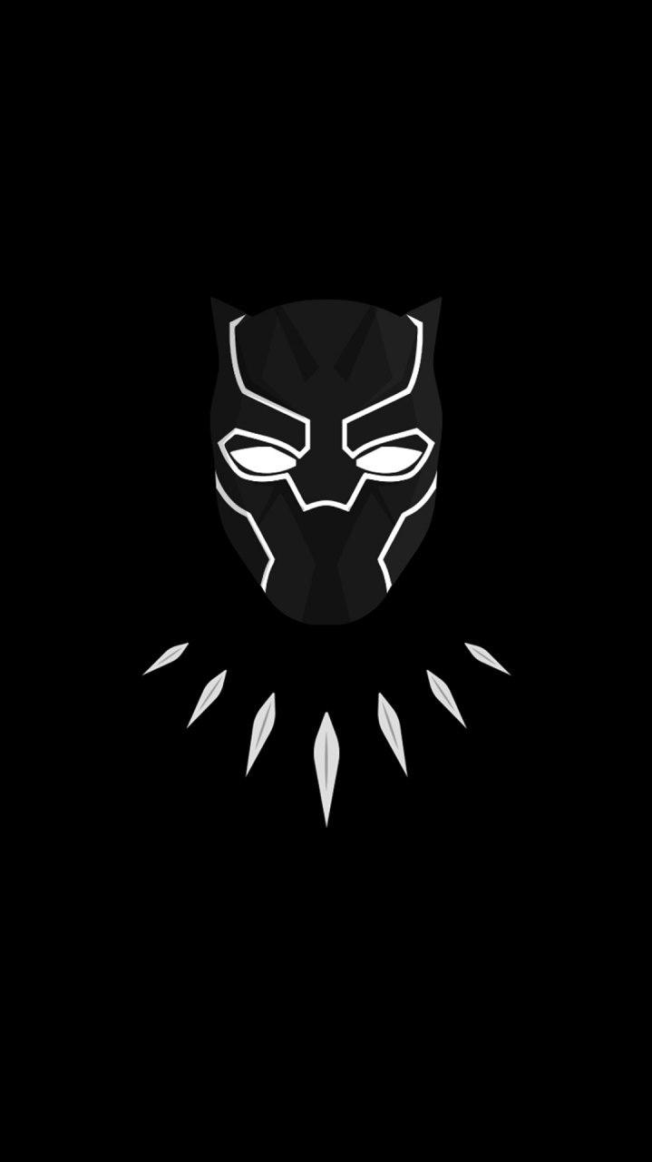 Minimal Black Panther Dark iPhone Wallpaper