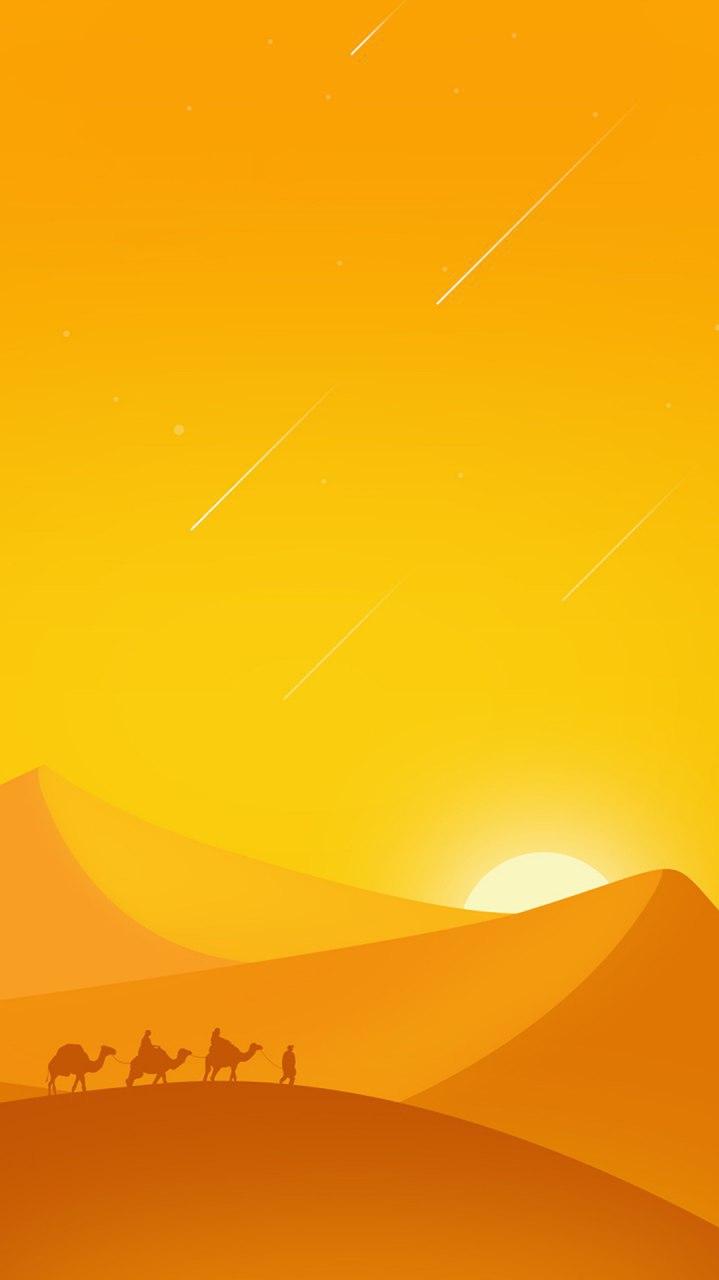 Minimal Desert iPhone Wallpaper