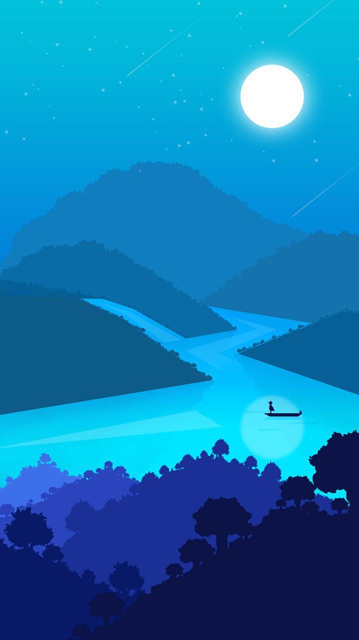 Minimal World River Nature iPhone Wallpaper