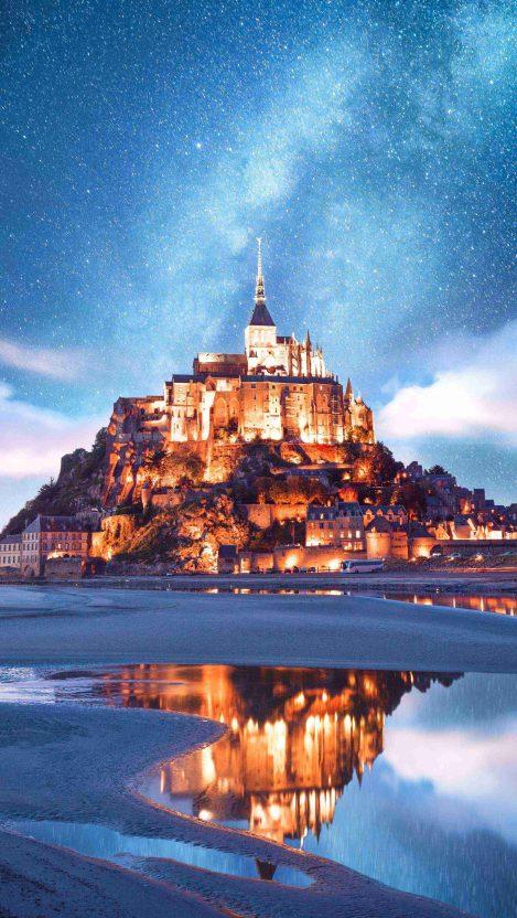 Mont Saint Michel iPhone Wallpaper
