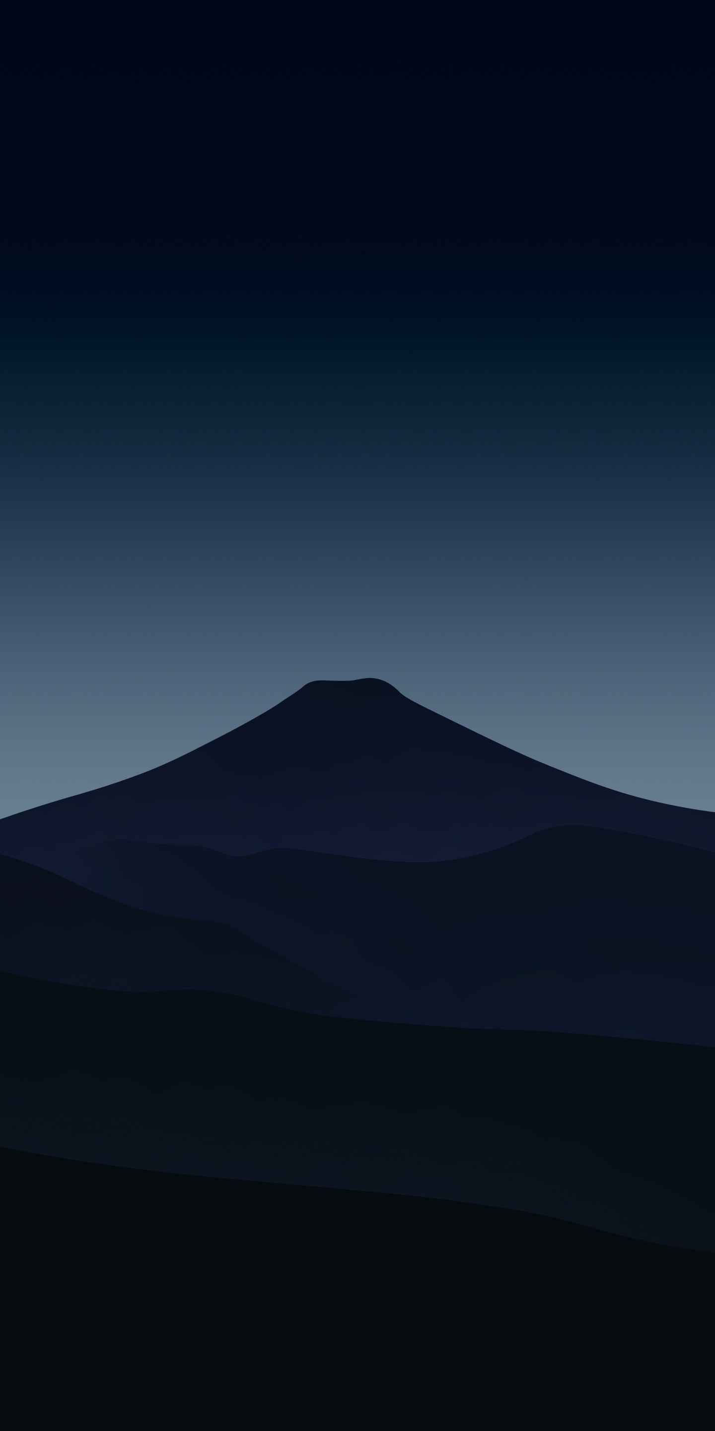 Mount Fuji Minimal iPhone Wallpaper