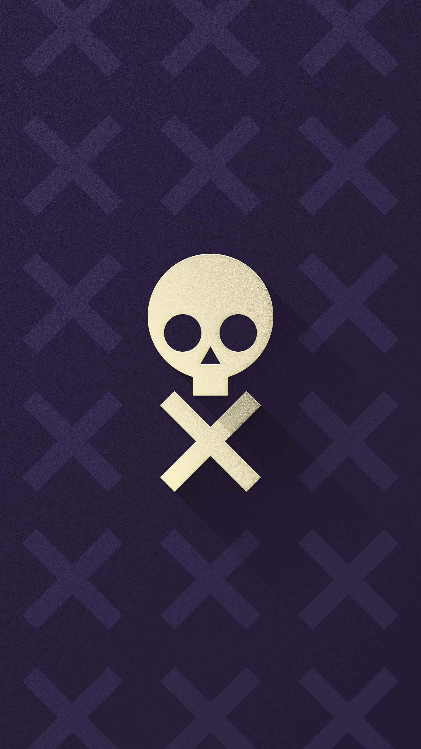Null Skull iPhone Wallpaper
