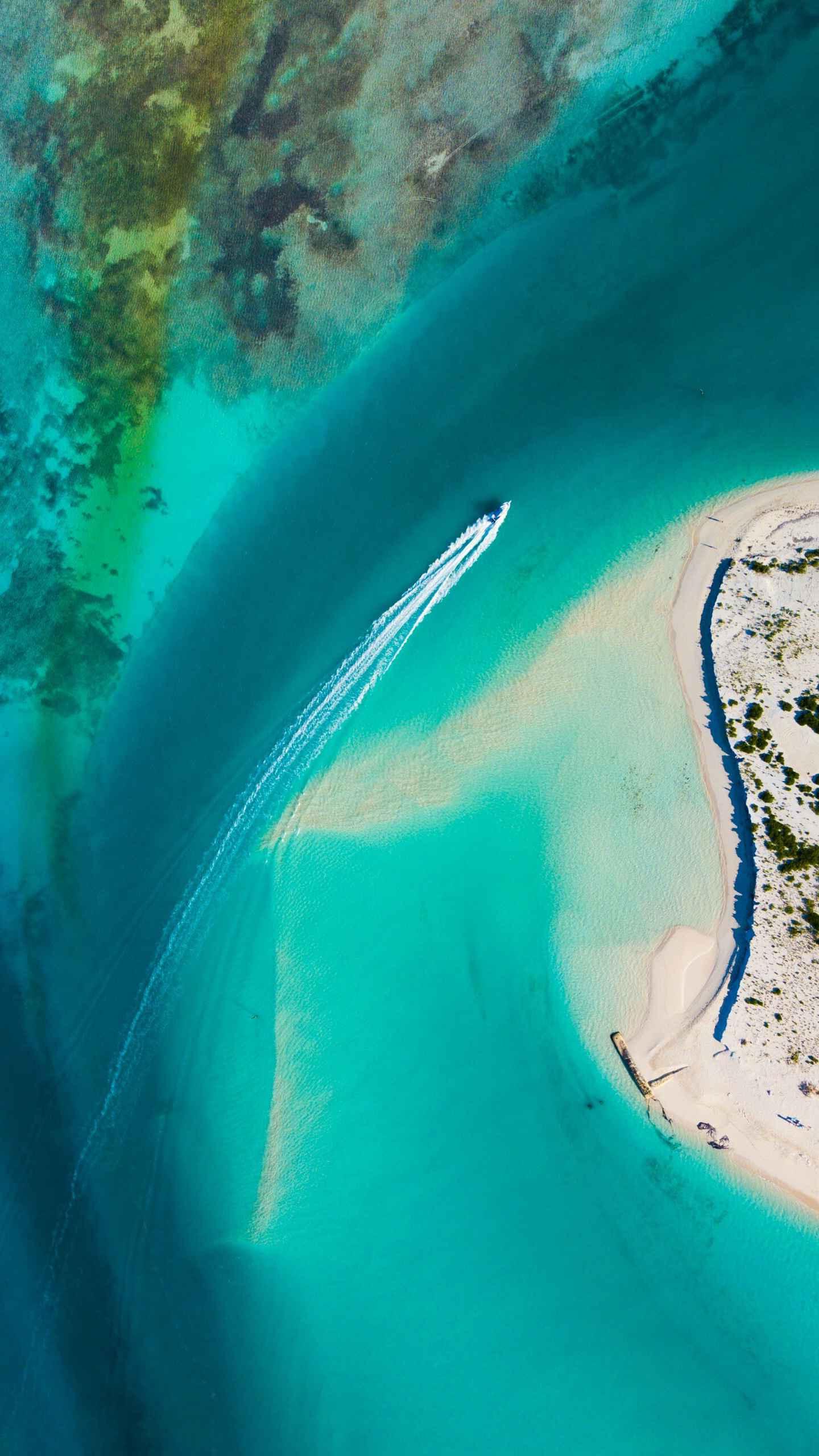 Ocean Top View iPhone Wallpaper