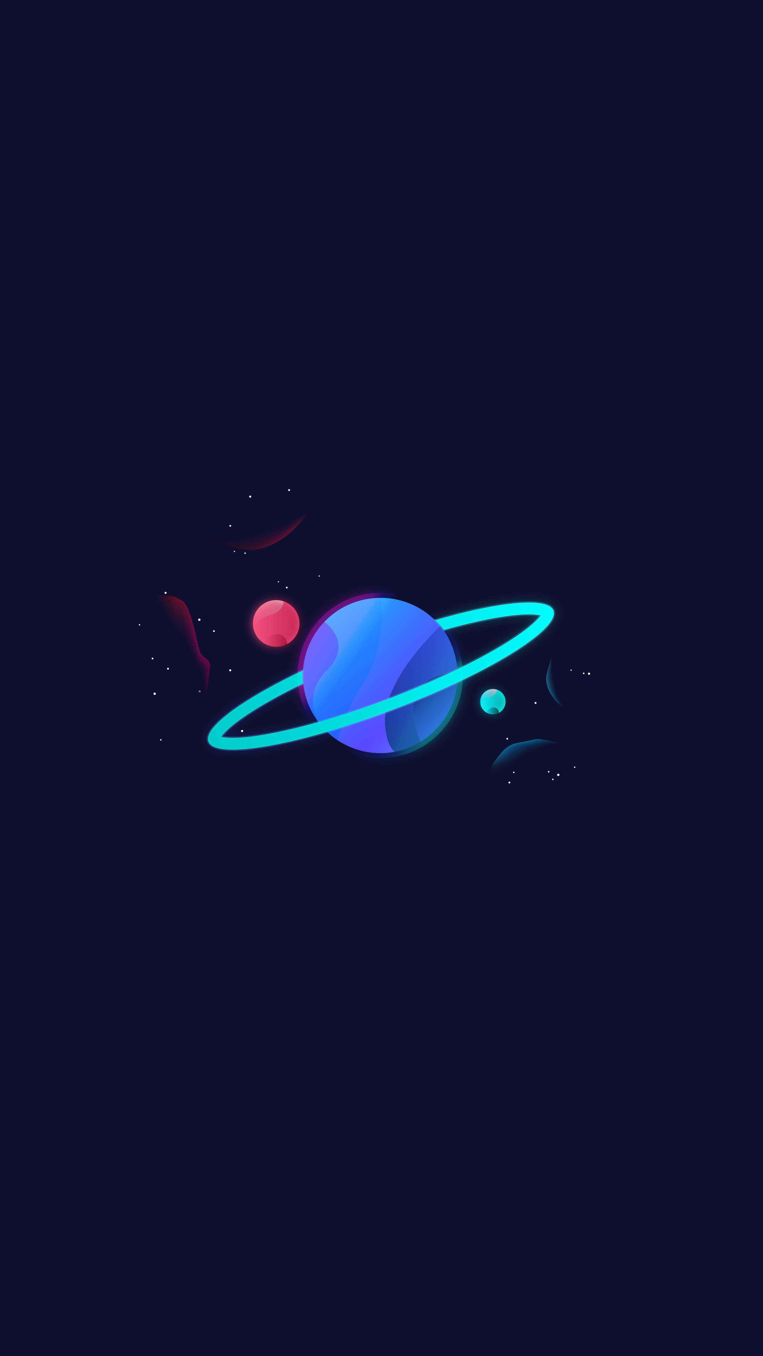 Planet Saturn Glow iPhone Wallpaper