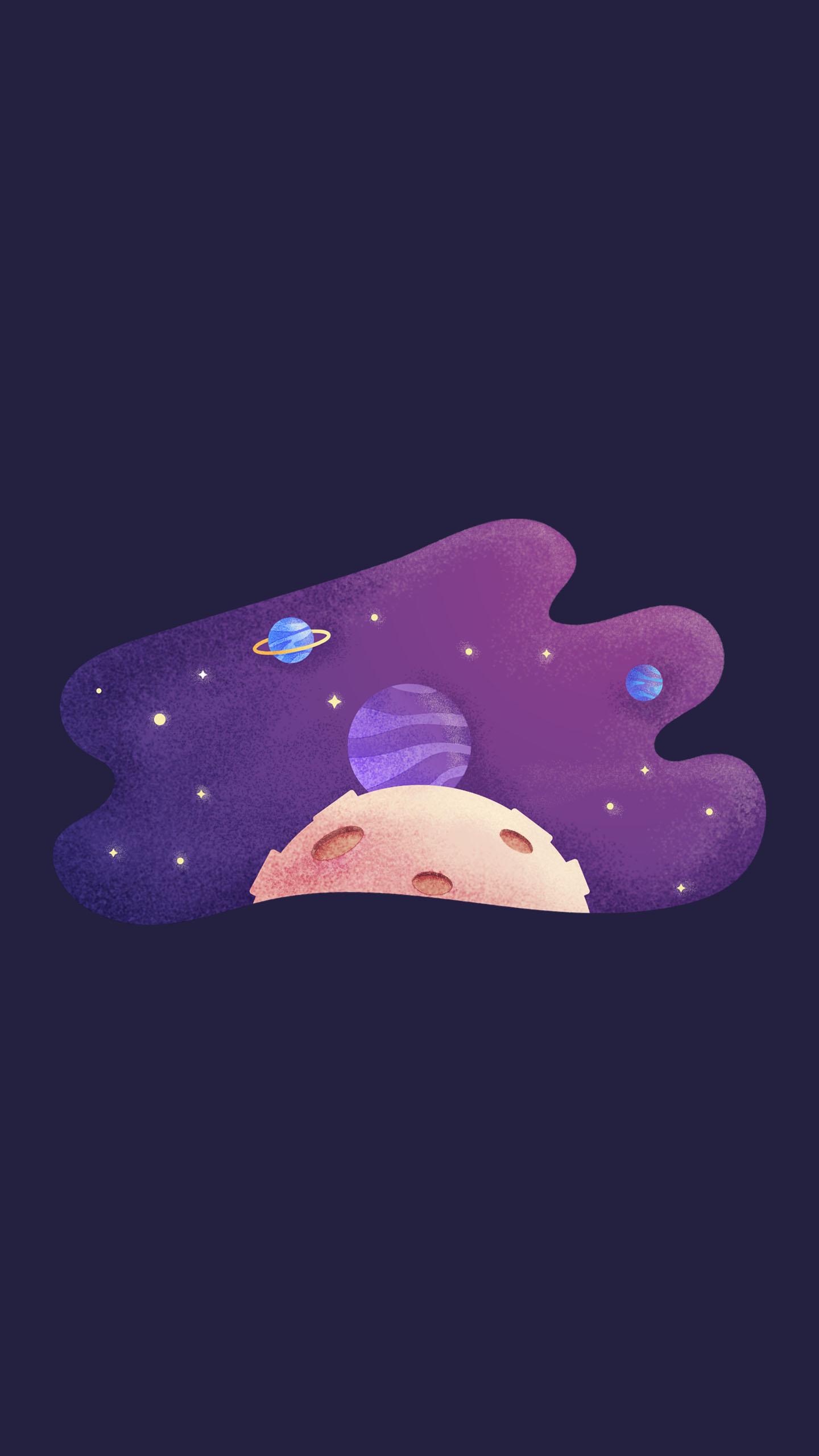 Planets Minimal iPhone Wallpaper