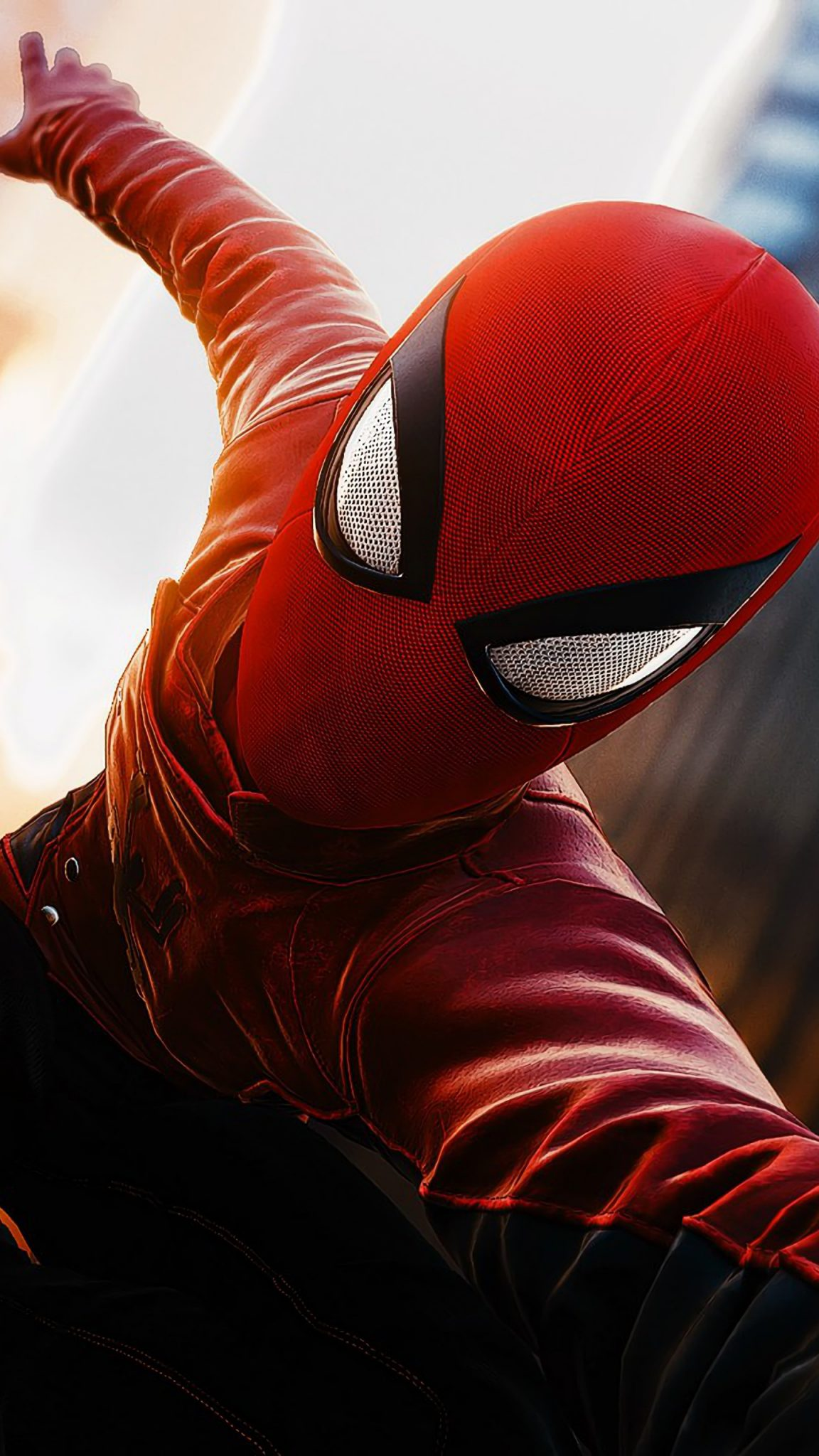Red Spiderman Far From Home Wallpaper