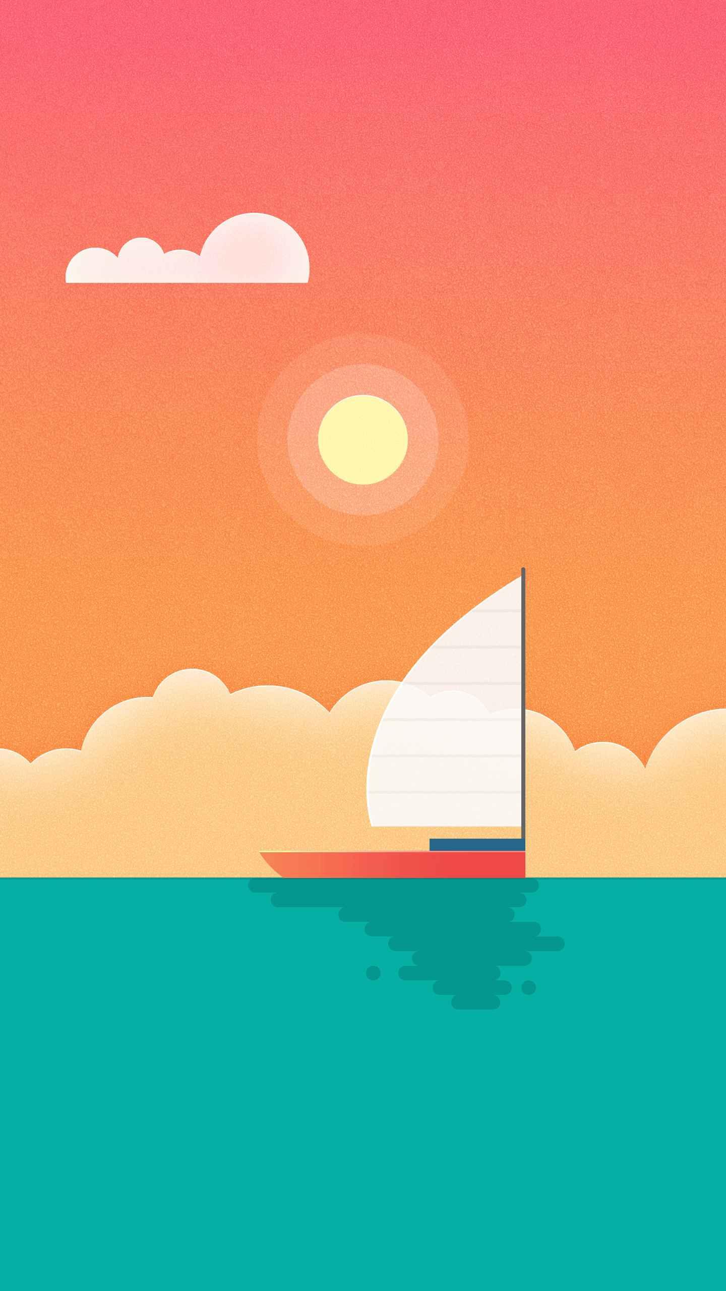 Sail Away iPhone Wallpaper