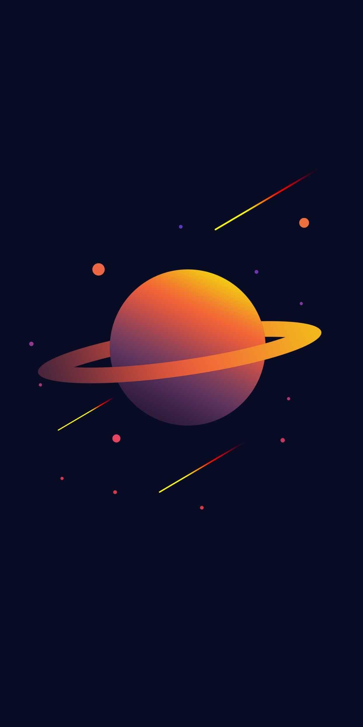 Saturn Planet iPhone Wallpaper